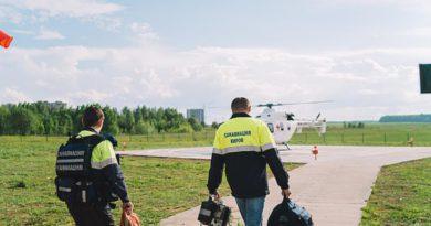 Санитарная авиация Кировской области спасла 90-летнюю жительницу Лузы